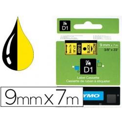 Ruban titreuse dymo d1 9mmx7m coloris impression noir/jaune