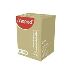 Trombone ondulé maped 77mm boîte carton 100 unités