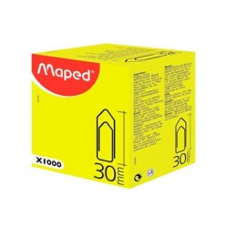 Trombone maped nickelé 30mm boîte carton 1000 unités