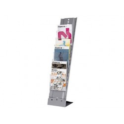 Présentoir paperflow transportable métal 7 cases a4...