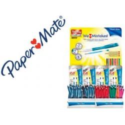 Stylo paper mate erasable gel présentoir de 72u+36...