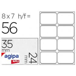 Étiquette adhésive apli agipa bureau 24x35mm pochette 56...