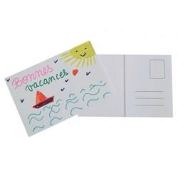 Carte postale à décorer 15x10cm 180g/m2 coloris blanc...