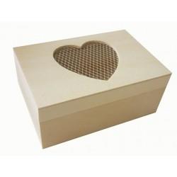 Boîte rectangulaire en bois à décorer 12x8x5.5cm