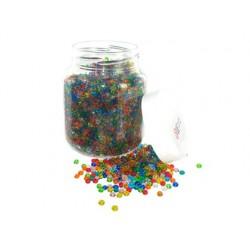 Perle rocaille transparente diamètre 5mm bocal 500g
