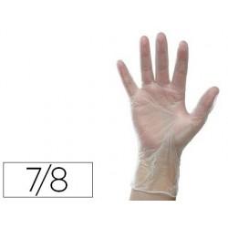 Gant vinyle poudré blanc ambidextres bords ourlés...