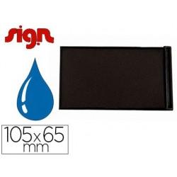 Recharge sign pour tampon encreur 105x65mm coloris bleu