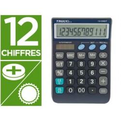 Calculatrice truly semi-bureau ct866t12bl 12 chiffres