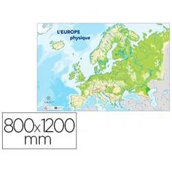Carte muette europe physique bouchut grandrémy 80x120cm