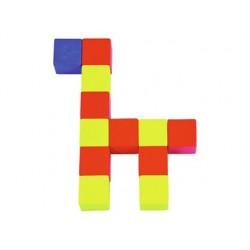 Fiche modèle empilage cubes en bois taille réelle lot 16...