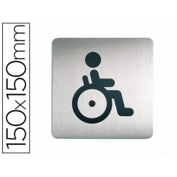 Plaque pictogramme durable wc handicapés carré grand...