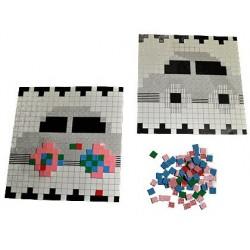 Carré mousse mosaïque 1x1cm 10 coloris assortis 1000 unités