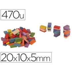 Brique mousse eva 20x10x5mm 8 coloris assortis 470 unités