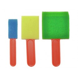 Pinceau mousse pinselfabrik plat 25mm 50mm 75mm coloris...