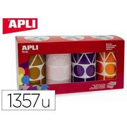 Gommette géante apli agipa géométrique 4 coloris assortis...