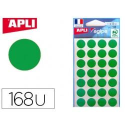 Pastille adhésive apli agipa diamètre 15mm coloris vert...
