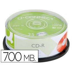 Cd-r q-connect 700mb 80min tour 25 unités