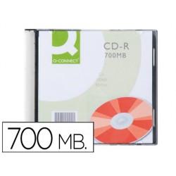 Cd-r q-connect 700mb 80min boîtier slim 10 un