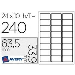Étiquette adhésive avery spéciale timbre 63.5x 33.9mm...