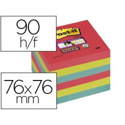 Bloc-notes post-it super sticky 76x76mm 90f repositionnables