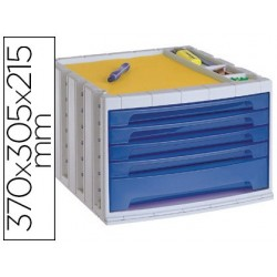 Module classement q-connect 5 tiroirs 370x305x225mm...