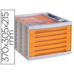 Module classement q-connect 6 tiroirs 370x305x215mm...