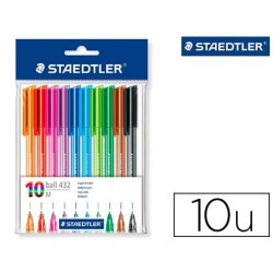 Stylo-bille staedtler corps triangulaire pointe moyenne...