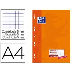 Feuillet mobile oxford a4 210x 297mm papier satiné extra...