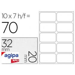 Étiquette adhésive apli agipa bureau 20x32mm pochette 70...